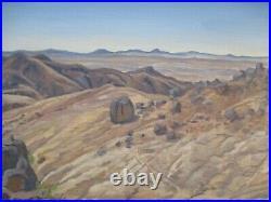 Vintage American Desert Landscape Painting Impressionism Nicholas Moreno