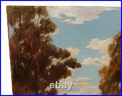 Vintage California Landscape Oil Painting Earl Graham Douglas Listed Pasadena
