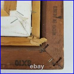 Vintage Cutrona Cat Painting Acrylic or Oil On Canvas Framed Original Signed EUC