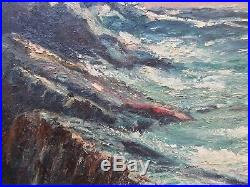 Vintage Mid-Century Oil Seascape Painting