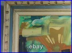 Vintage Modern Abstract Cubist INDIANA Oil Painting James W Skinner Hoosier Art