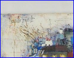 Vintage Original French Oil Painting of a Paris Cafe by Maurille Prevost Listed