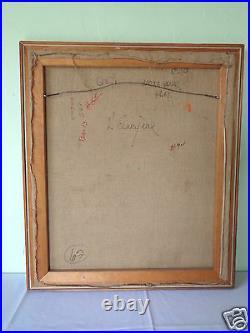 Vintage Signed Jordi Bonas MID Century Art Original Painting On Canvas M66