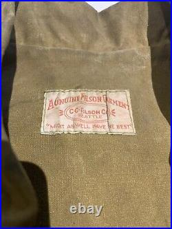 Vtg Filson Oil Tin Cloth Jacket Hunting Waxed Cotton Canvas Work Coat Style #60
