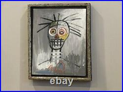 Wonderful Oilstick On Canvas By Jean-michel Basquiat 1987 With Frame Nice